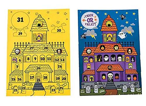 Scratch 'N Reveal Halloween Countdown Calendar Activities (Pack of 12) Advent Halloween Gifting Ideas For Kids -