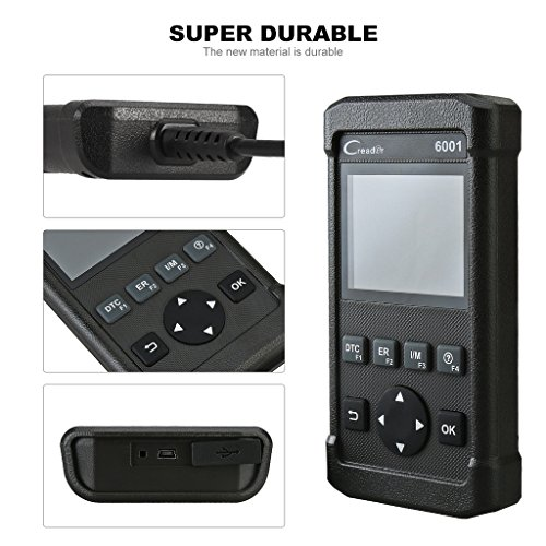 Car Code Reader Launch 6001 OBD2 Scanner Scan Tool Full OBDII/EOBD Diagnostic Functions with O2 Sensor Test and On-board Monitor Test