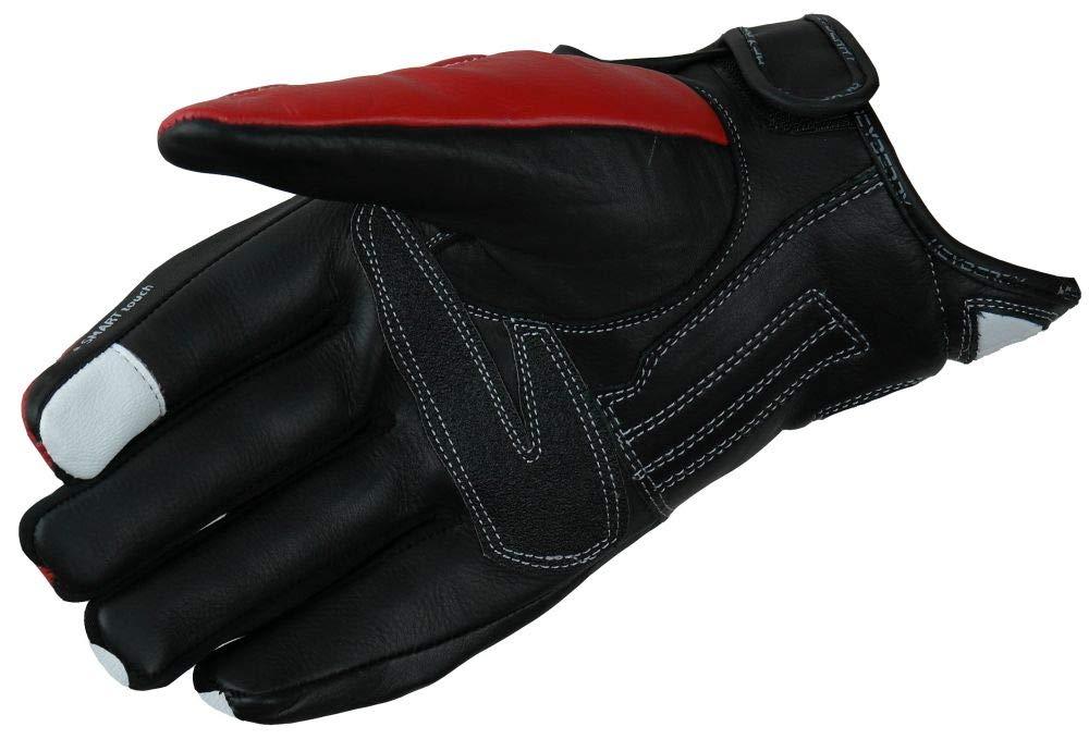 HEYBERRY Motorradhandschuhe Leder Motorrad Handschuhe kurz schwarz Gr 2XL