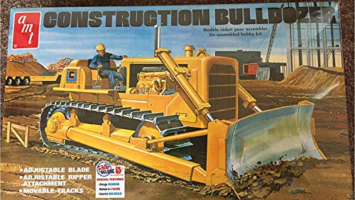 Construction Bulldozer Plastic Model Kit, , Paint and Glue required from AMT