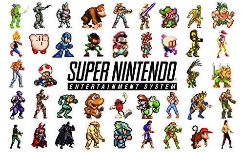 Nintendo Snes Poster Retro Game