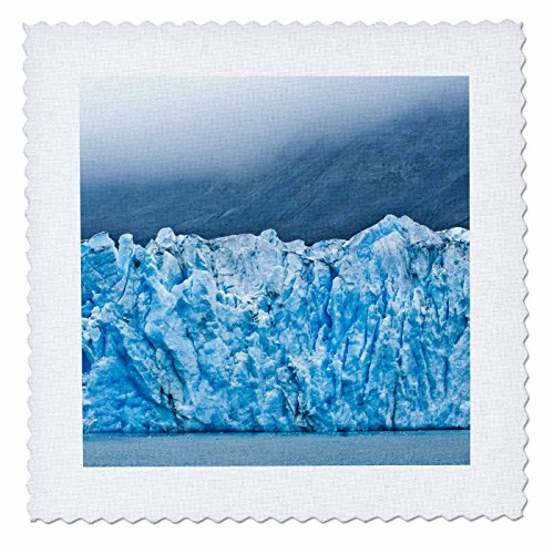 3dRose qs_87536_2 Alaska, Glacier Bay National Park, Mcbride Glacier US02 JGI0236 Jerry Ginsberg Quilt Square, 6 by - Park Square Bay
