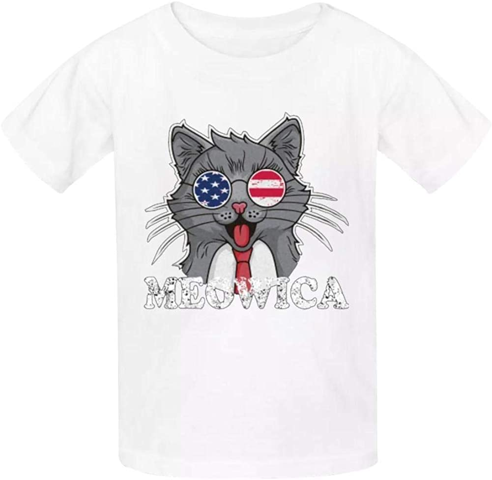 Gustavo Ma Independence Day2019 Childrens Boy 100/% Cotton Print Short Sleeve T-Shirt