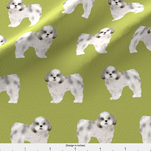 Shih Tzu Fleece (Shih Tzu Fabric Shih Tzu Fabric Lime Cute Dog Fabric Toy Breed Dog Sweet Shih Tzu by Petfriendly Printed on Fleece Fabric by the Yard by Spoonflower)