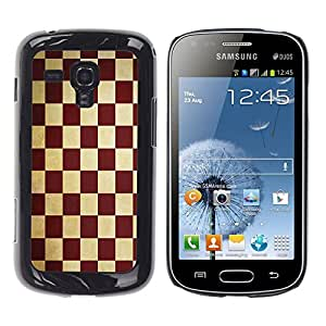 - Square Check Damier Checkered Pattern - - Fashion Dream Catcher Design Hard Plastic Protective Case Cover FOR Samsung Galaxy S Duos S7562 Retro Candy