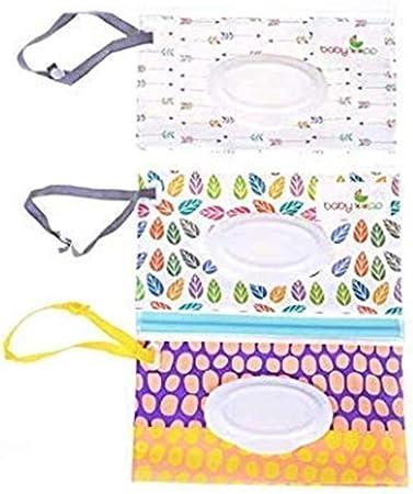Uteruik - Dispensador de toallitas húmedas bolsa toallitas bebe Estuche de Viaje para toallitas húmedas para bebé, 3 Unidades: Amazon.es: Hogar