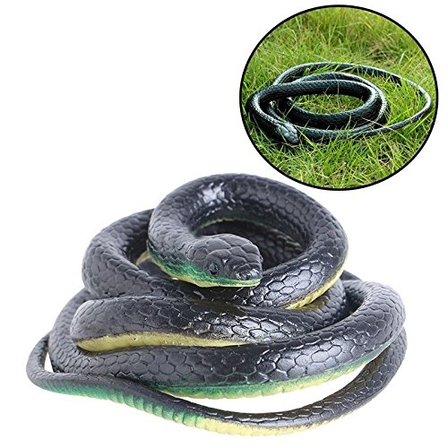 Realistic Rubber Black Mamba Snake Toy Garden Props 52 Inch Long, Model: , Toys & Play