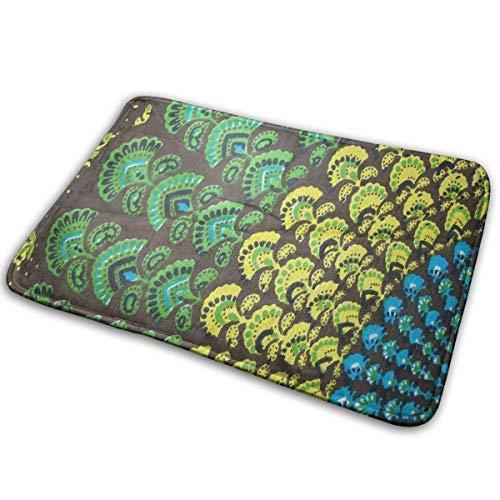 FunnyCustom Doormat Peacock Hipple Designer Non Slip Water Absorption Mats for Kitchen ()