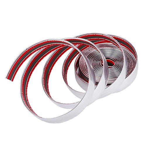 Adhesive Chrome Trim by Partol,197 x 1 (5M x 25 MM) DIY PVC Chrome Moulding Trim Strip Universal For BWM Audi Benz Nissan Car Exterior