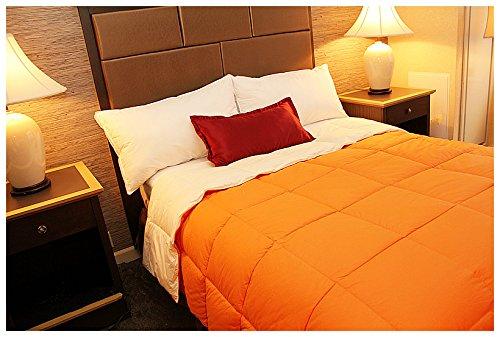 - Nature Relax - All Season Aloe Vera Reversible Solid Color Comforter Orange / Lemon Chiffon (Queen)
