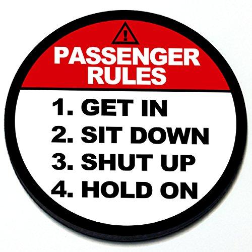 Passenger Rules - Magnetic Grill Badge for MINI Cooper