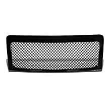 Ford F150 12th Gen Lobo Glossy Black ABS Mesh Style Front Upper Bumper Grille