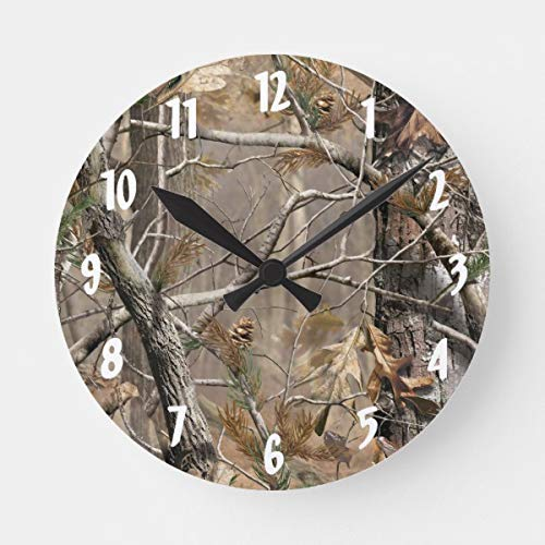 DoreenAbe Classic Wood Clock, Non Ticking Clock 12