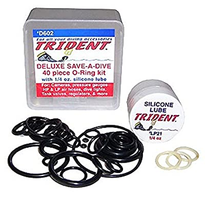 Trident Deluxe Save-A-Dive O-Ring Kit for Scuba Diving Tank Valves, Hoses, Regulators, Cameras etc Dive Diver