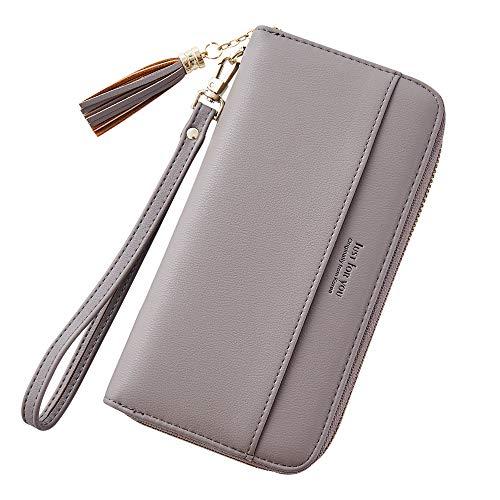 Cyanb Women Wallets Tassel Bifold Ladies Cluth Wristlet Wrist strap Long Purse (Wallet Wristlet)