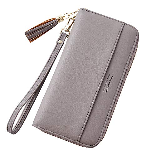 Expressive Women Wallet Female Purse Women Leather Wallet Long Trifold Coin Purse Card Holder Money Clutch Wristlet Multifunction Zipper Women's Bags