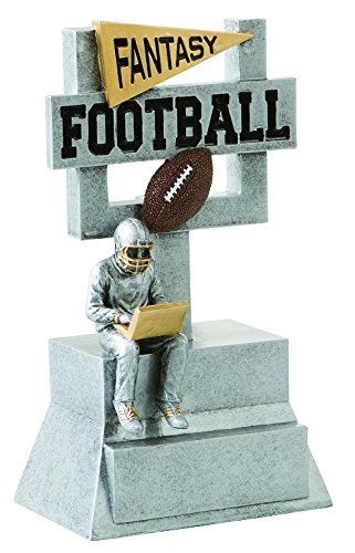 Decade Awards Fantasy Football Silver Goal Post Trophy | Fantasy Football Gridiron Award | 7 Inch Tall - Free Engraved Plate on Request