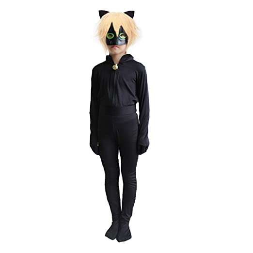 Amazon Black Cat Noir Cosplay Costume Ladybug Halloween