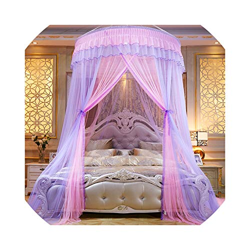 Round Dome Bed Canopy Mosquito Net Curtain Hanging Tent Mosquito Nets Cibinlik Moustiquaire for Kids Bedroom Girls Room Decor