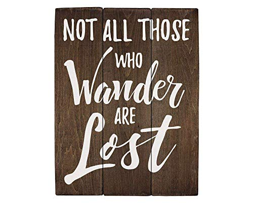 Teisyouhu Not All Those Who Wander are Lost Travel Gift Or Decor Travel Nursery Decor Lord of The Rings Wood Art Wall Decor Plaque Sign Gift