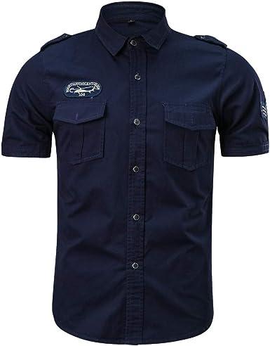 Camisetas Hombre Manga Corta Camisas Térmica Hombre T-Shirt Top Blusa Camiseta Militar Casual para Hombre Tallas Grandes Camisa de Trabajo: Amazon.es: Ropa y accesorios