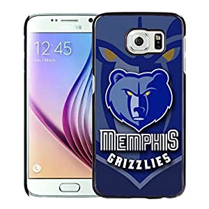 New Custom Design Cover Case For Samsung Galaxy S6 Memphis Grizzlies 6 Black Phone Case