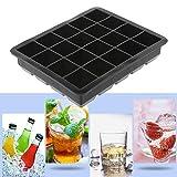 kitchenaid 15 ice machine - Bazzano 20 Cavity Black Silicone Ice Cube Maker Perfect Tray DIY Mold Cake Jelly Pudding Mould