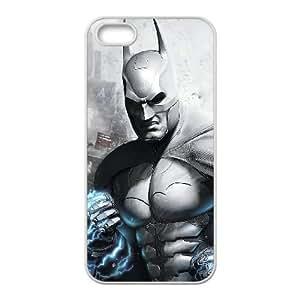 dark batman arkham city gamewide iPhone 5 5s Cell Phone Case White 53Go-489405