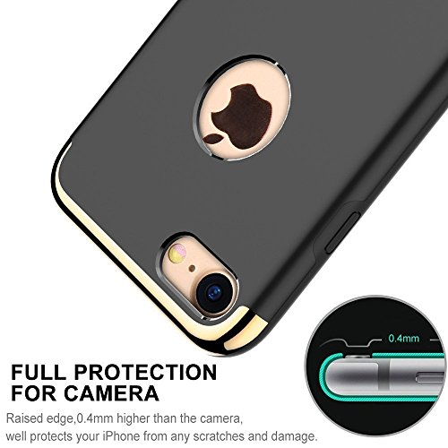 AKEDRE iPhone 7 Case, iPhone 8 Case, Stylish Slim Hard Case [Metal Plate] [Anti-Scratch] Shockproof Electroplate Frame with [Metal Kickstand ] For iPhone 7 4.7 inch.