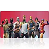 Duboon Gaming Mouse Pad 35.4x15.7IN & Non-Slip Smooth Desk Mat Blotter Comfortable Writing Surface (90x40 redfort005)