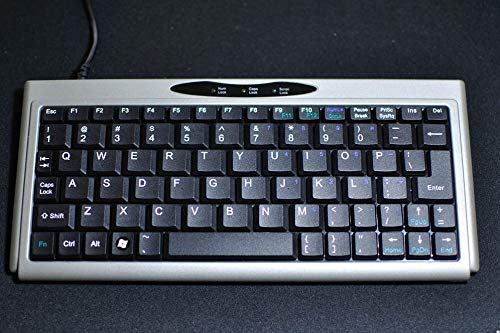 Mini Keyboard - SolidTek ASK-3100SU Silver USB Mini Keyboard