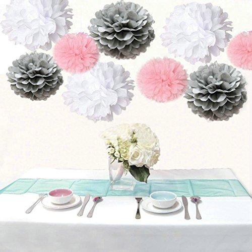 Saitec Pompoms Wedding Birthday Decoration