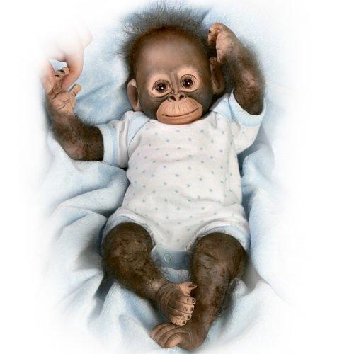 Realistic Baby Monkey Doll Zachary product image