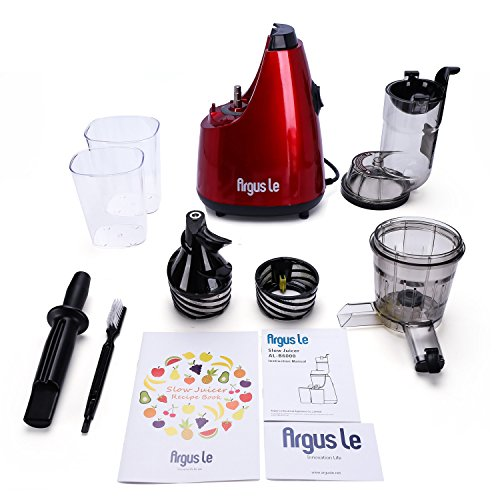 Argus Le Masticating Juicer, Whole Slow Juicer, 3''inches(75MM) Wide Feed Chute, Easy Cleaning Auger, Energy Saving 150W DC Motor, Fruit and Vegetable Juice Extractor with Two Filters and Recipe Book by Argus Le (Image #5)