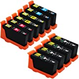 E-Z Ink (TM) Compatible Ink Cartridge Replacement for Lexmark 100XL (4 Black, 2 Cyan, 2 Magenta, 2 Yellow) 14N1068 14N1069 14N1070 14N1071 (10) Pack
