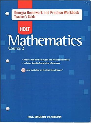 Holt Mathematics Georgia Homework And Practice