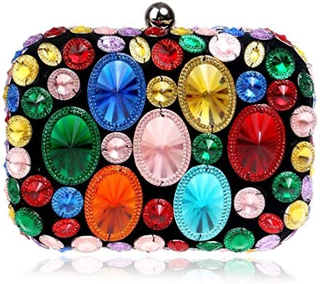 LKJASDHL 女性クリスタルダイヤモンドイブニングバッグ用パーティークラッチ財布ハンドバッグレディーバッグディナーバッグチェーンスモールスクエアバッグバンケットハンドバッグカジュアルフォーマル日常バッグ (色 : Style1)