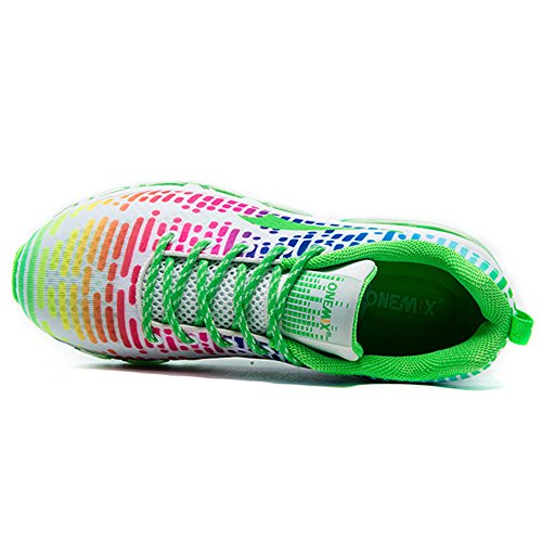 Femme Course Sneakers Onemix Respirante Rhythm Sports Running Air De Homme Chaussures Baskets Blanc Vert wFF0qfnI