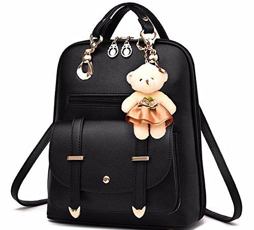 MSZYZ Estilo y doble bolsa para hombro bolsa moda mujer, Rosa black