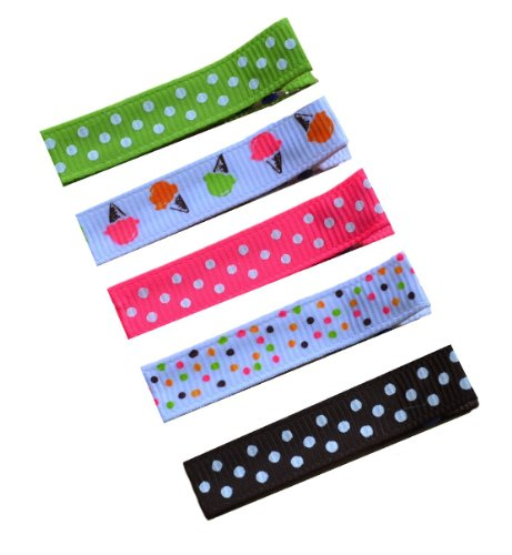 No Slip Alligator Hair Clip Set Clip Ice Cream Stand Sweet and Simple By Funny Girl Designs