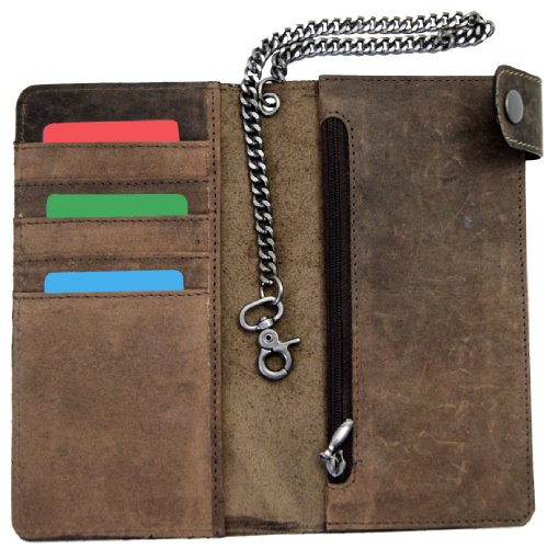 chain ELLISON with Men's of leather brown wallet MALTZAHN BARON wWqxYFW7