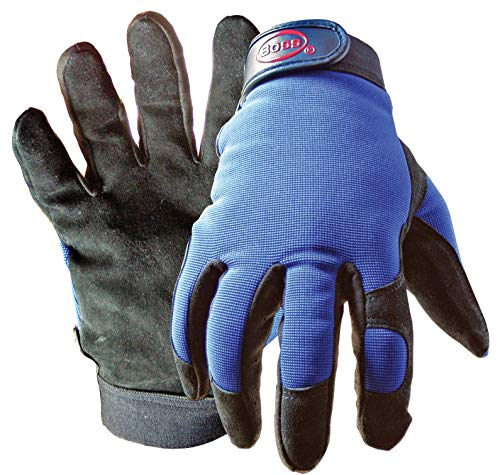 Boss Gloves 890X Extra Large Black & Blue Boss Guard Leather Gloves