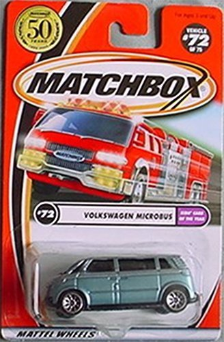 Matchbox 2002-72 Volkswagen Microbus Kids' Cars of the Year LIGHT BLUE 1:64 Scale