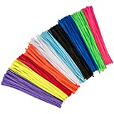 500 Pack Craft Pipe Cleaners - Assorted Chenille Stems for Arts and Crafts - 12 inches