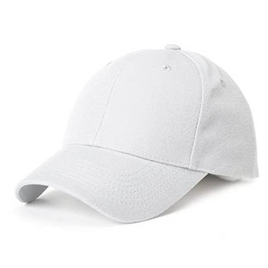 Amazon.com  New White Kids Blank Hat Cap  Clothing ab91fa4f4bd