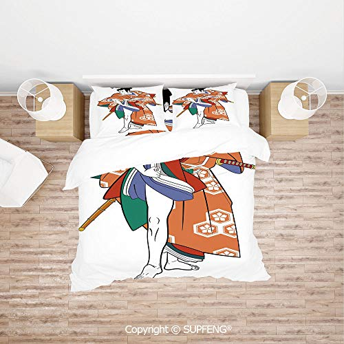 Culture Not A Costumes Template - SCOXIXI 4 Piece Bedding Kabuki Actor