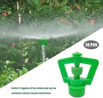 Rociadores redondos para riego de jardines Rociadores de enfriamiento de césped Boquilla de atomización de refracción Rociador de riego para jardines de 360 grados para regar plantas de césped: Amazon.es: Hogar