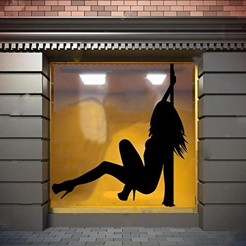 striptease wall decal pole dance wall sticker dance wall vinyl dancer decal sexy girl wall decal erotic dancer sticker beauty salon decor night club decor ae718 (Pole Dance Wall Decal)