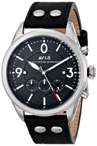 AVI-8 Men's AV-4024-03 Lancaster Bomber Analog Display Japanese Quartz Black Watch