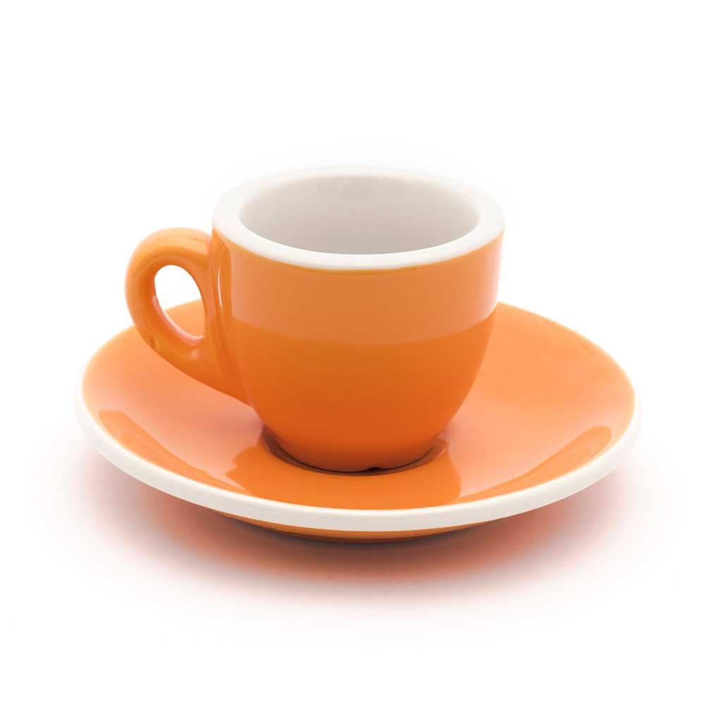2019特集 Demitasse Cup & & Saucerオレンジとホワイトカフェスタイル – Cup セットof 6 セットof B07BB4CHYW, 花園村:bbac5f04 --- beyonddefeat.com